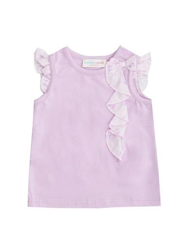 Mammaramma Mammaramma RAB040 Lila Kız Bebek T-Shirt Lila
